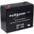 Multipower Ólom akku 6V 7Ah (Multipower) típus MP7-6S helyettesíti: 6V 7,2Ah
