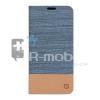 Samsung Galaxy A3 (2016) Flip Notesz Business Series Textil Világoskék