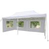 Összecsukható kerti parti sátor – 3 x 6 m fehér