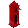 Antik postaláda - piros
