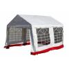 OEM Kerti parti sátor – fehér, piros szegéllyel 3 x 4 m