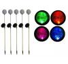 REMO kerti szoláris LED lámpa készlet, Garth – 5 db színváltó üveggömb kültéri világítás