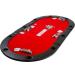Kihajtható piros póker asztallap