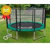OEM G21 trambulín biztonsági hálóval - 305 cm, zöld trambulin szett