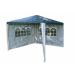 Kerti parti sátor – zöld 3 x 3 m + 2 oldalfallal