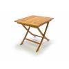 DIVERO kerti asztal tíkfából - 80 x 80 cm