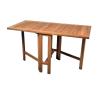 Kerti összecsukható asztal DIVERO, tíkfából kerti bútor