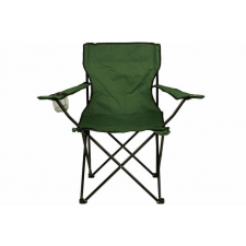 Összecsukható szék pohártartóval - zöld kerti bútor