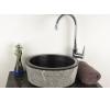 DIVERO Mosdókagyló természetes kőből - Palermo fürdőszoba kiegészítő
