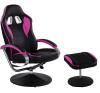 Irodai szék lábtartóval - GT RELAX RACER, rózsaszín/fekete forgószék
