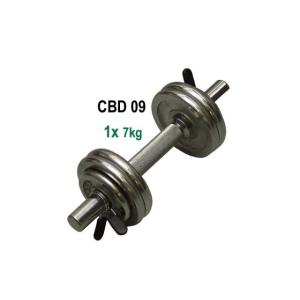 CorbySport Egykezes kézisúlyzó - 7 kg, krómozott