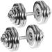Egykezes súlyzó szett, krómozott - MOVIT 2 x 30 kg