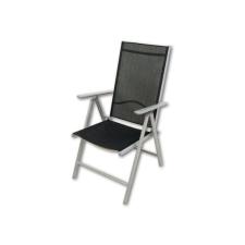 Összecsukható szék alumíniumból Garth - fekete kerti bútor