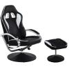 Irodai szék lábtartóval - GT RELAX RACER, fehér/fekete
