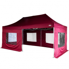Kerti party sátor oldalfalakkal - bordó, 3 x 6 m party kellék