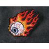 Hímzett lángoló szemgolyó