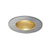 Schrack Technik PATTA-F mennyezeti lámpa 9W, 3000K, 38°, kerek, csiszolt alu