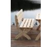 Kerti pad fából STRONG, természetes FSC kerti bútor