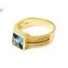 Kék és fehér köves arany gyűrű