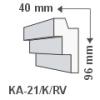 LEDvonal KA-21/K , Rejtett világítás díszléc , oldalfal