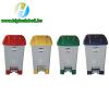 70 literes szelektív hulladékgyűjtő kuka piros