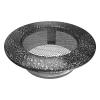 Szellőzőrács Fekete Ezüst Kerek 100