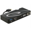 DELOCK Adapter USB 3.0 > HDMI / VGA + Gigabit LAN + USB 3.0