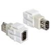 DELOCK Keystone modul FireWire 6 pin anya -> FireWire 6 pin anya (86324)