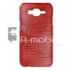 Samsung Galaxy J5 Szilikon Tok Szálcsiszolt Mintával Piros