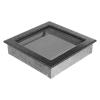 Kratki Fekete Ezüst Szellőzőrács Standard 22x22