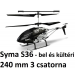 Syma S36 bel és kültéri távirányítós helikopter, 3 csatorna, nagy sebesség dupla rotor 240 mm-es méret