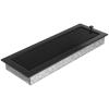 Kratki Fekete Szellőzőrács Standard 17x49 Redőnnyel