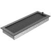 Kratki Fekete Ezüst Szellőzőrács Standard 17x49 Redőnnyel