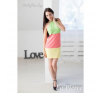 Lapierre LP 052 Pink-sárga-zöld csíkos hátán pántos ruha női ruha