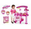 OEM G21 Nagy játékkonyha tartozékokkal, rózsaszín konyhakészlet