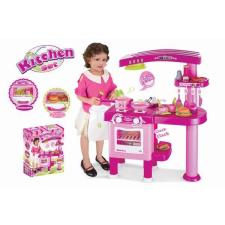 G21 Nagy játékkonyha tartozékokkal, rózsaszín konyhakészlet