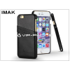 IMAK Apple iPhone 6 Plus/6S Plus hátlap kártyatartóval - IMAK Wise Card Leather - fekete