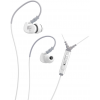 M6P Memory Wire In-Ear Headphones With Mic White