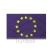 Hunbolt Európa zászló, hurkolt poliészter nyomott mintás kültéri zászló. 30x40cm farúddal