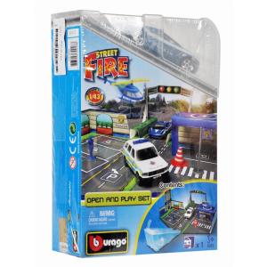 Bburago - 1:43 Race & Play street fire rendőrségi játékszett
