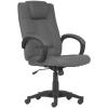 . Főnöki szék, szövetborítás, fekete lábkereszt,