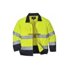 Portwest TX70 Madrid Hi-Vis jól láthatósági kabát (sárga/navy)
