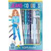 TopModel színesceruza és toll készlet - Jeans