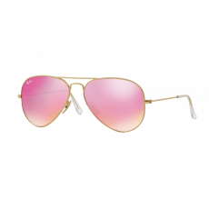 Ray-Ban RB3025 112/4T AVIATOR LARGE METAL MATTE GOLD GREEN MIRROR FUXIA napszemüveg