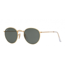 Ray-Ban RB3447 112/58 ROUND METAL MATTE GOLD POLAR GREEN napszemüveg