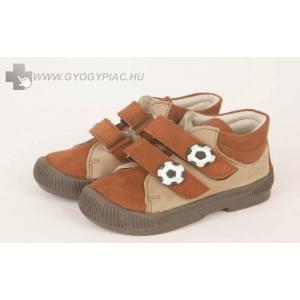 Dr HU szupinációs cipő tépőzáras, bézs-barna