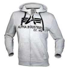 Alpha Industries Big A Classic Zip Hoody - szürke pulóver
