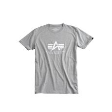 Alpha Industries Basic T - szürke/fehér póló