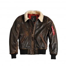 Alpha Industries Injector III Leather - vintage brown