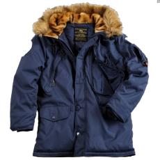 Alpha Industries Polar Jacket felvarró nélkül - replica blue